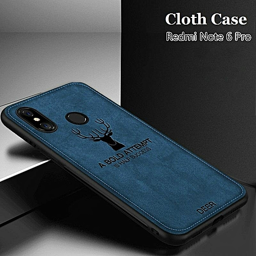 huge selection of 59fa0 14dac Redmi Note 6 Pro Cloth Case Soft Cover With Deer Design Hand Stitching  Casing For Xiaomi Note 6 Pro Elk