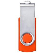 64MB USB 2.0 Swivel Flash Memory Stick Pen Drive Storage Thumb Orange
