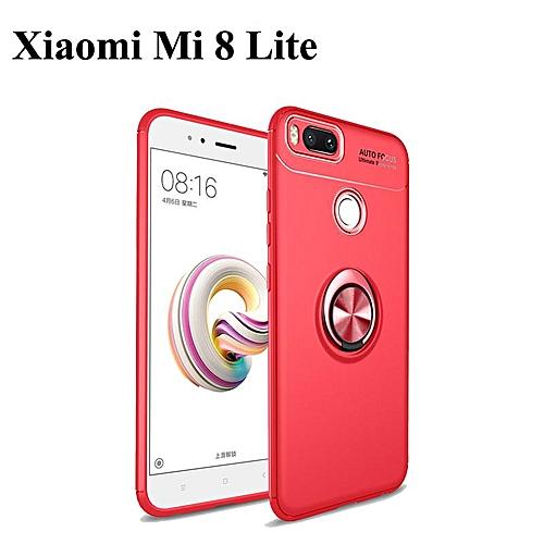 promo code 801c2 24690 Redmi 6A Phone Case ForRedmi Note 6 Magnetic Car Holder Case 360 Rotating  Finger Ring Phone Soft Back Cover For Xiaomi Mi 8 Lite (Xiaomi Mi 8 ...