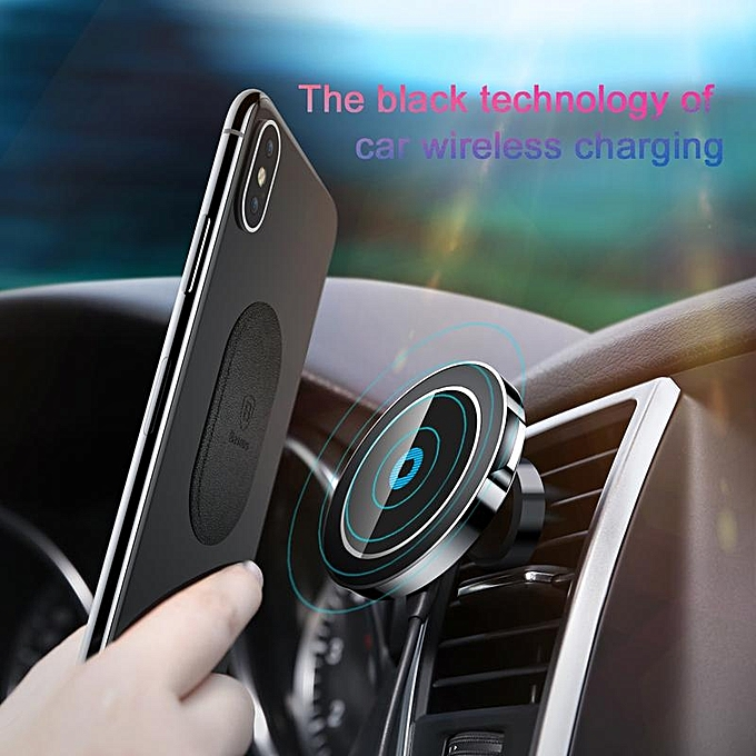 size 40 9de2b dd26b Baseus Big Ear Qi Wireless Charger Magnetic Car Mount Fast Qi Wireless  Charger For iPhone X 8 Plus Samsung S8 S6 Wireless Charging Charger Pad ...