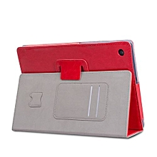 Ipad/tablet Case Leather Slim Folding Stand Painted Case Cover For Huawei MediaPad T3 8.0inch RD( Red)