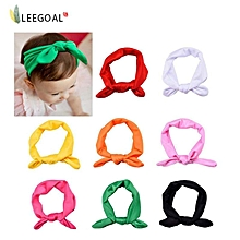 EGO 8x Baby Girl Elastic Turban Headbands Head Wrap Rabbit Ear Hair Band