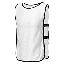 SPORTS Soccer Football Basketball TRAINING Bibs Vest Netball Hockey Adult White NEW