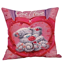 Bear Pillowcase Linen Car Home Decorative Cushion Cover Pillow Covers