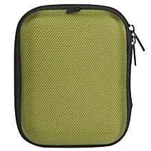 Portable Mini Round Hard Storage Case Bag for Earphone Headphone SD TF Cards -Green