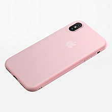 Cafele Matte TPU Case for IPhone X Ultra-thin 0.6mm Comfortable Soft Anti-fingerprint Case Cover (Pink) MQSHOP
