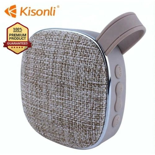 Portable Bluetooth Speaker Woofer FM radio soft fabric- grey
