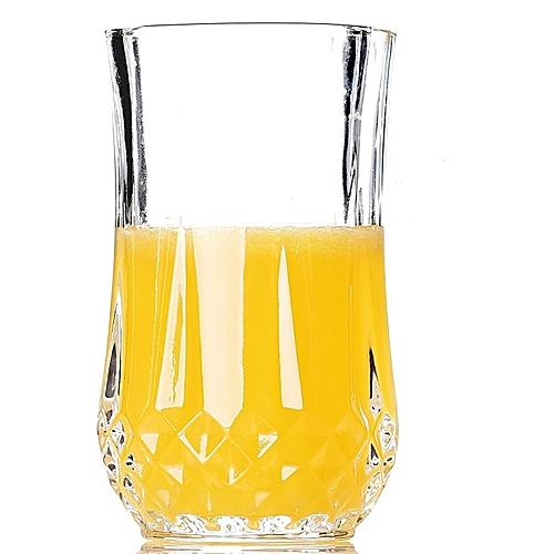 Crystal Bottom Highball Tumbler Glasses - Set of 6