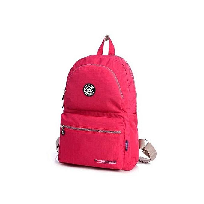 eaa4dc0c5740 Neworldline Waterproof Nylon Travel Satchel Shoulder Bag Backpack School  Rucksack HOT-Hot Pink