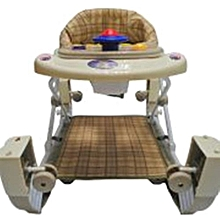 2 in 1 Baby Walker/Rocker - Multicolor.