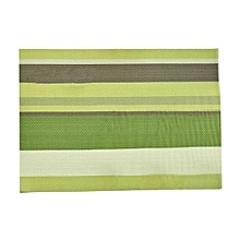 Green Stripped Table Mats - 6 Piece Pack