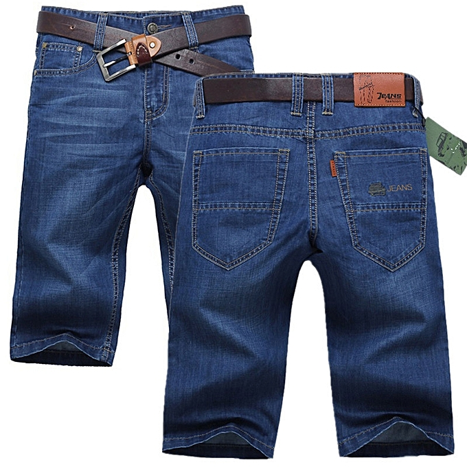 84281388b Fashion Summer Thin Casual Knee Length Jeans Shorts for Men @ Best ...