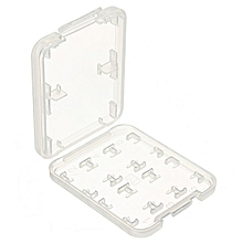 8 Slots Micro SD TF SDHC MSPD Memory Card Storage Holder Carrying Plastic Case