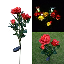 3 Head Solar LED Decorative Outdoor Lawn Lamp 3 Head Sun Rose Light