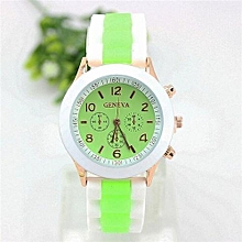 Watch Rubber Candy Jelly Fashion Unisex Silicone Quartz(Light Green)