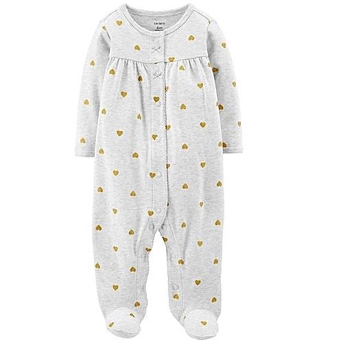 63bd26400c17 Generic Unisex Baby Winter Jumpsuit   Romper-White   Best Price ...