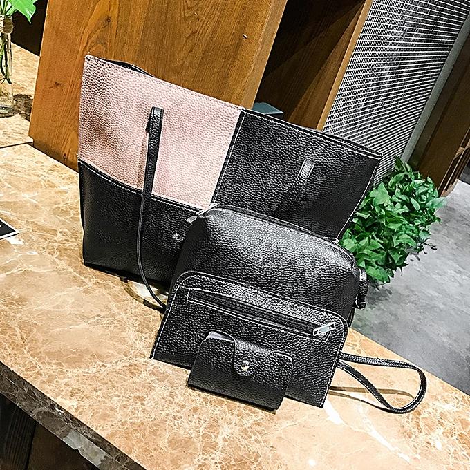 Duanxinyv-Women Four Set Handbag Shoulder Bags Four Pieces Tote Bag Crossbody Wallet