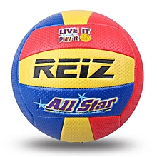 UL Soft Touch PU Leather 5# Volleyball Ball Training Competition Yellow & Red & Blue