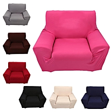1 Seater Solid Color Stretch Elastic Slip Resistant Sofa Slipcover