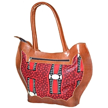 Red Kitenge Mix Handbag
