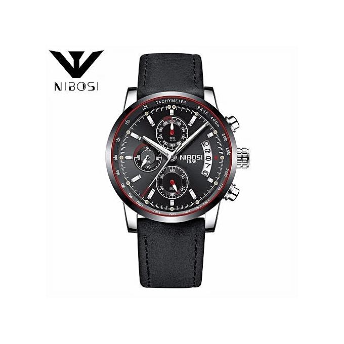 8c109c93ffb NIBOSI Watch Men Top Brand Luxury Men Watch Leather Clock Men Watches  Relogio Masculino Horloges Mannen