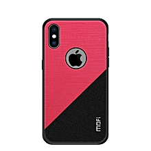 MOFI Shockproof TPU + PC + Cloth Pasted Case for iPhone XS Max (Red)