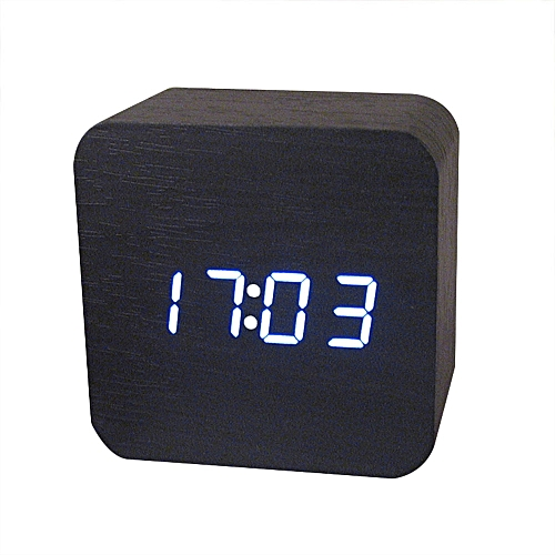 Generic Creative Temperature Display Sounds Control Electronic LED Alarm  Table Clock Radio Reloj Despertador Digital Mecanisme Horloge(C)