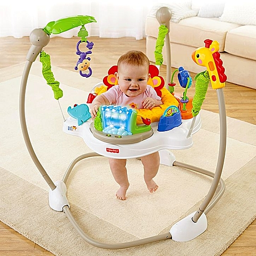 56f7488d1 Fisher Price Bouncing Baby Walker Happy Jungle Jumper-Multicolor ...