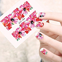 Fancyqube DIY Design Water Transfer Nails Art Sticker Color Ocean Fishes Nail Wraps Sticker Watermark Fingernails Decals