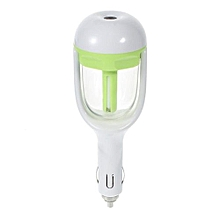 NANUM Mini Car Charger Style Aromatherapy Humidifier Diffuser - Green (Color:As First Picture)
