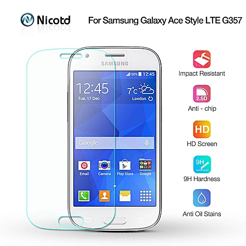 Nicotd 2 5D 9H Tempered Screen Glass For Samsung Galaxy ACE 4 G357 G357fz  2 5D Arc Edge Screen Protector Film For Samsung G357FZ