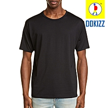 T-shirt Black Plain