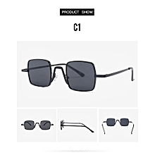 Small quartet of European and American trend fashionable joker sunglasses Black