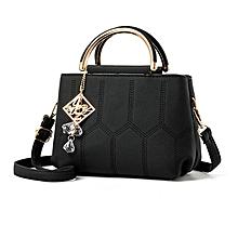 Korean Style Handbag PU Leather Bag Cross Body Messenger Bag Casual Travel Bag black