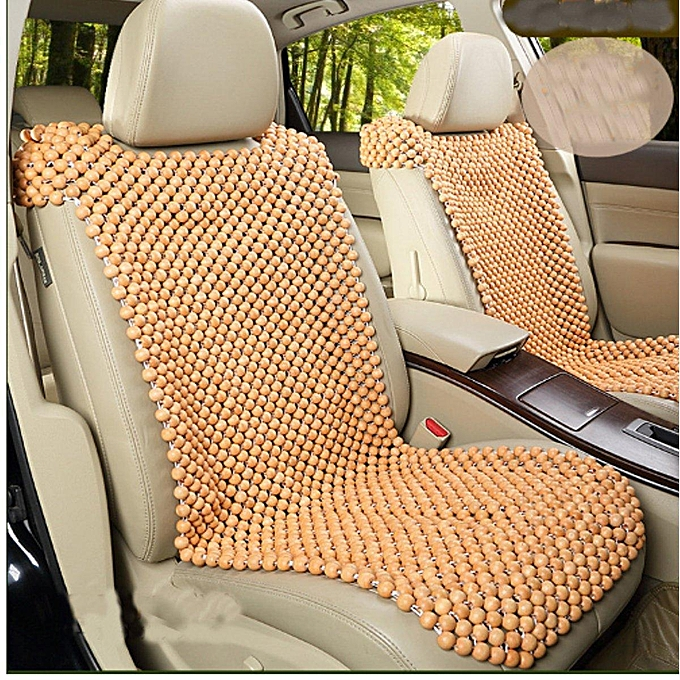 Natural Wooden Beaded Car Seat Cover Cool Cushion