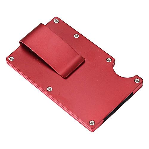 Generic Olivaren Men Metal Wallet Credit Card Holder Aluminum Money Clip  Wallet With Blocking RD -Red   Best Price  e64430651fd2