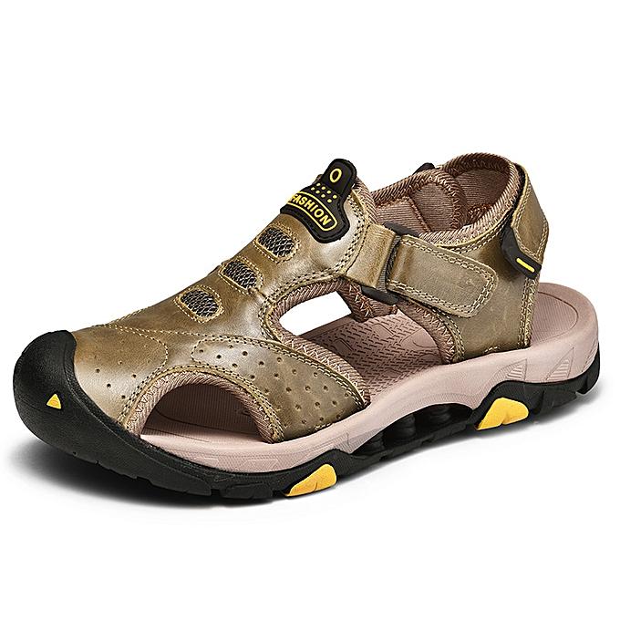 b625931499af SocNoDn Men Fashion Casual Soft Hiking Beach Sandals Shoes Khaki ...