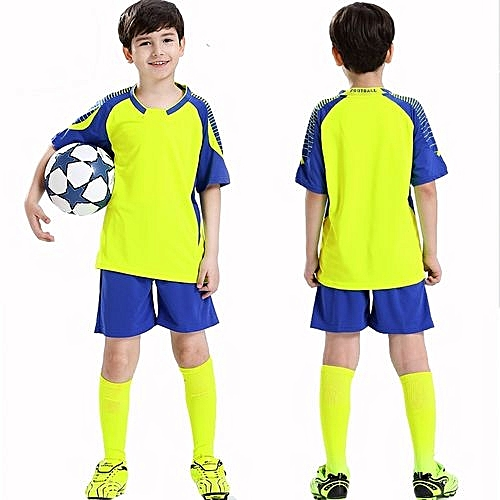 5e3ccaae5 Longo Customized Blank Children Boy's Brand Football Soccer Team Training  Jerseys Uniform-Yellow