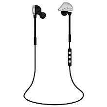 Headsets, Noise Cancelling Q6 Bluetooth V4.1 Portable Wireless Running Earbuds Stereo Headset with Mic for Smart Phone (Black Silver)