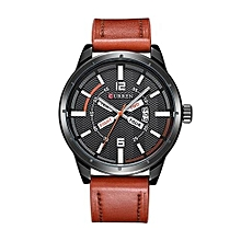 Watches, 8211 men luxury quartz casual fashion Leather watches sports watches - Brown