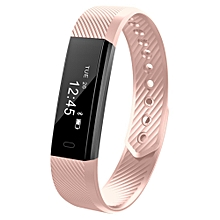 ID115 Smart Bracelet with Fitness Tracker, Passometer - Pink
