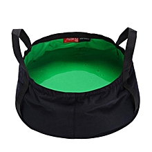 huskspo 8.5L Portable Collapsible Outdoor Wash Camping Folding Basin Bucket Camping GN