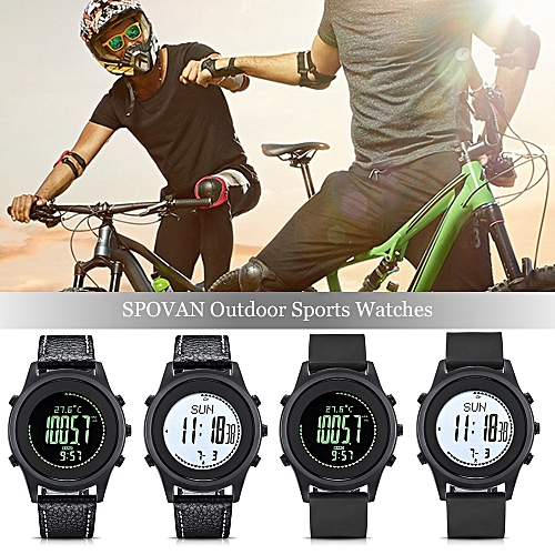SPOVAN Outdoor Sports Watches Business Watch Waterproof Sports  Multifunctional Outdoor Watch Altimeter Thermometer Weather Forecast  Stopwatch