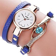 CCQ Women Fashion Casual Analog Quartz Women Rhinestone Watch Bracelet Watch BU