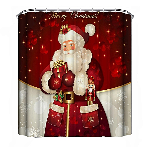 MUYI Christmas Waterproof Polyester Bathroom Shower Curtain Decor With Hooks New L
