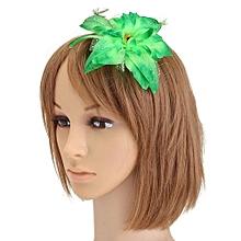 Bridal Flower Hairpin Wedding Bridesmaid Party Ball Accessories Hair Clip Green