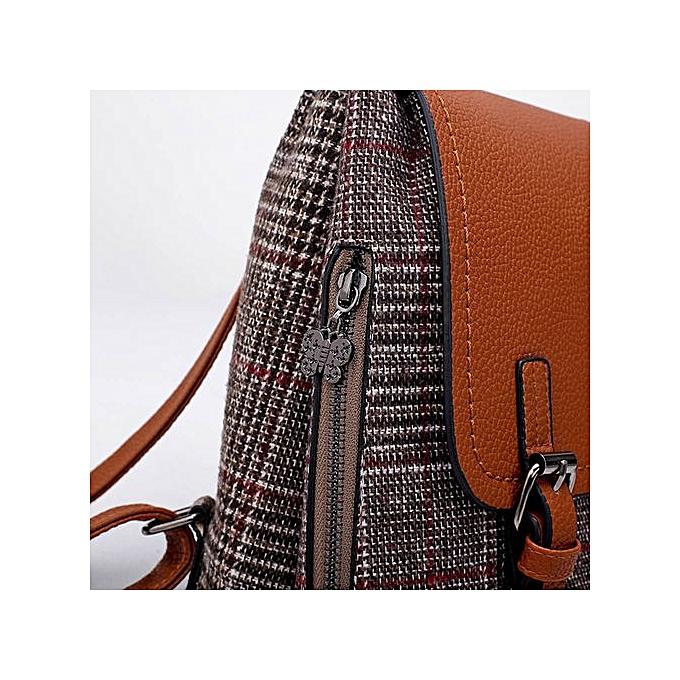 74a9eaf476b2 Zetenis Women Girl Leather Rucksack Shoulder Bookbags School Bag Satchel  Travel Backpack -Brown