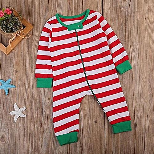 9ab8d29fb8d6 MUYI Newborn Baby Girl Christmas Long Sleeve Stripe Romper Jumpsuit ...