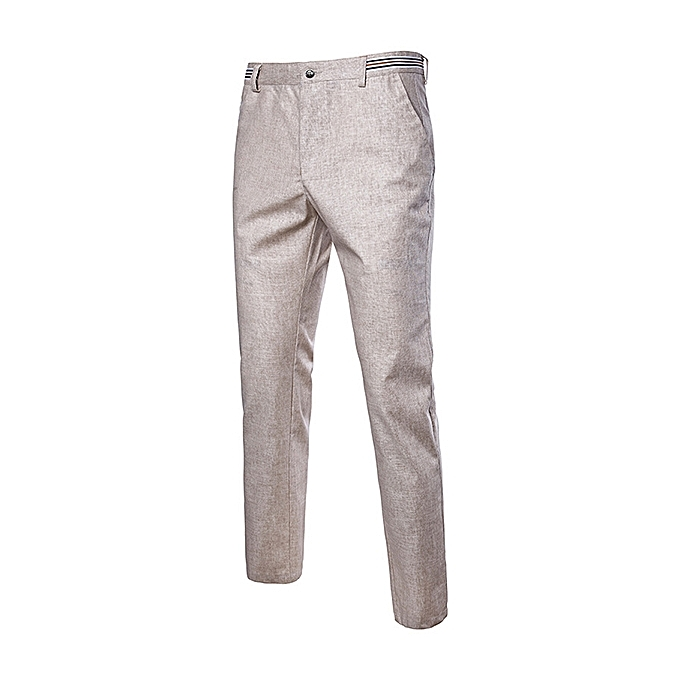 4530e0ef887 Summer Men s Breathable Thin Cotton Linen Pants Casual Solid Color Loose  Pants