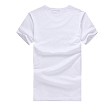 Mens Cotton T-Shirt short sleeves Casual male t shirt -white